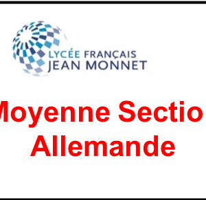 Moyenne Section Allemande